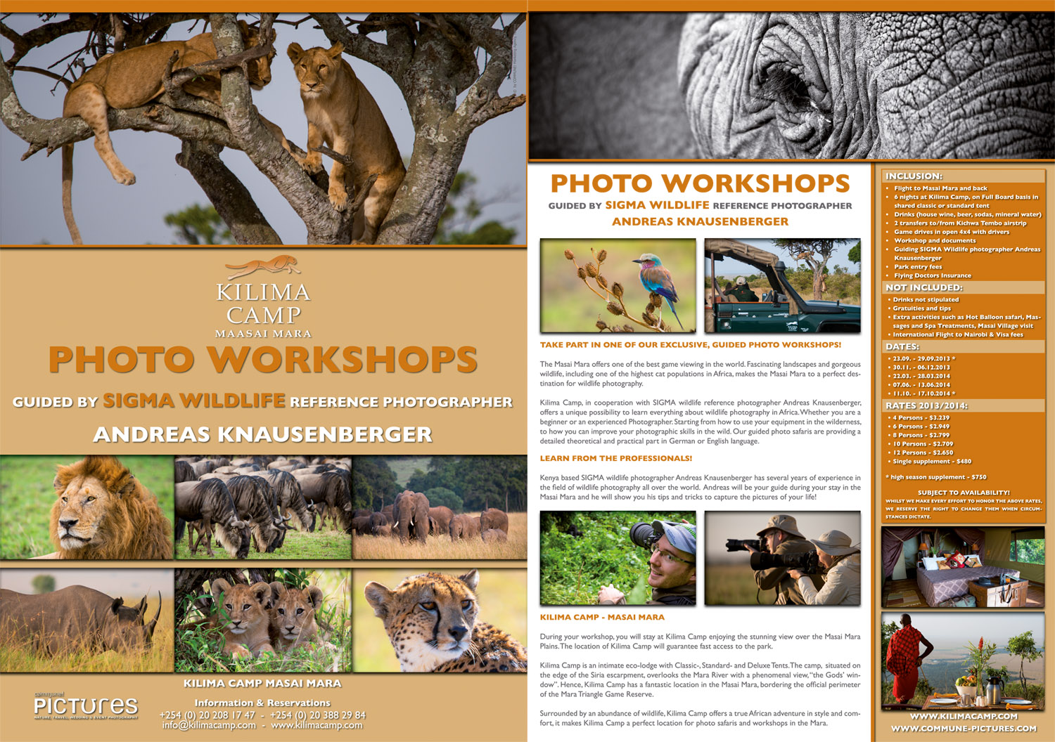 A4 Flyer for Photo Workshops